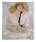 Portrait Of Raquel Meller Fleece Blanket