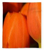 Portrait Of Red Tulips Fleece Blanket