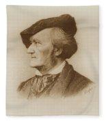 Portrait Of Richard Wagner German Fleece Blanket