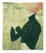 Portrait Of Sarah Bernhardt Fleece Blanket