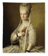 Portrait Of Sarah Cook Fleece Blanket