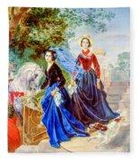 Portrait Of Sisters Shishmarev Fleece Blanket