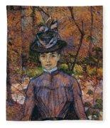 Portrait Of Suzanne Valadon Fleece Blanket