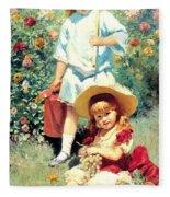 Portrait Of The Artists Children Fleece Blanket