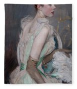 Portrait Of The Countess De Leusse Fleece Blanket