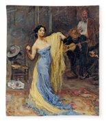 Portrait Of The Dancer Anna Pawlowa Fleece Blanket