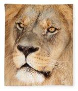 Portrait Of The Lion Fleece Blanket