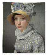 Portrait Of The Model Maddalena Or Anna Maria Uhden Fleece Blanket