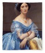 Portrait Of The Princesse De Broglie Fleece Blanket