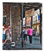 Portrait Of The Street Musician Sketch  Fleece Blanket