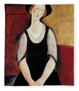 Portrait Of Thora Klinchlowstrom Fleece Blanket