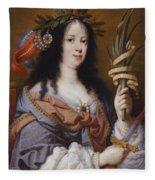 Portrait Of Vittoria Della Rovere As Saint Vittoria Fleece Blanket