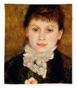 Portrait Of Woman Fleece Blanket