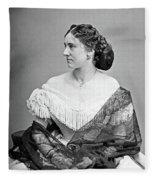 Portrait Woman, C1865 Fleece Blanket