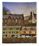 Portree. Isle Of Skye. Scotland Fleece Blanket