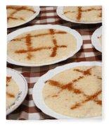 Portuguese Food Fleece Blanket