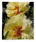 Portulaca Named Happy Hour Banana Fleece Blanket