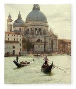 Postcard From Venice Fleece Blanket
