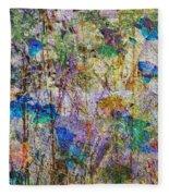 Posies In The Grass Fleece Blanket