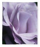 Posing Purple Rose Flower Fleece Blanket