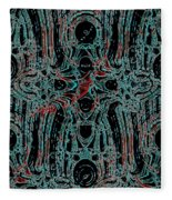 Post-historical Rock Art Fleece Blanket