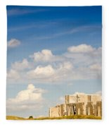 Post Hospital Ruins Fort Laramie Fleece Blanket
