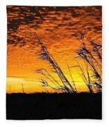 Post Hurricane Rita Clouds At Dockside In Beaumont Texas Usa Fleece Blanket