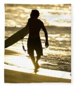Post Surf Gold Fleece Blanket