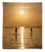 Postcards From Paradise Fleece Blanket