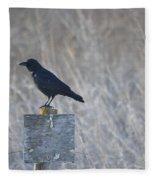 Posted Crow Fleece Blanket