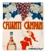 Poster Advertising Chianti Campani Fleece Blanket