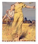 Poster Advertising The National Loan Fleece Blanket