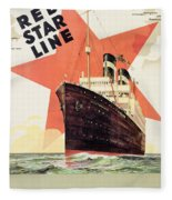 Poster Advertising The Red Star Line Fleece Blanket