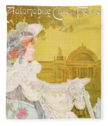 Poster Advertising The Sixth Exhibition Of The Automobile Club De France Fleece Blanket