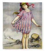Poster Banque De Paris Fleece Blanket
