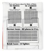 Poster Battle Of Britain Fleece Blanket