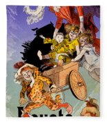 Poster For Aux Buttes Chaumont Toy Fleece Blanket