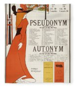 Poster For 'the Pseudonym And Autonym Libraries' Fleece Blanket