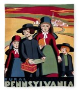 Poster Pennsylvania, C1938 Fleece Blanket