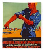 Poster Promoting Emigration To Canada Fleece Blanket