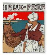 Poster Sardines, 1899 Fleece Blanket