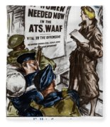 Poster Women Recruit Fleece Blanket