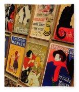 Posters In Paris Fleece Blanket