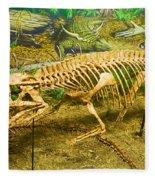 Postosuchus Fossil Fleece Blanket
