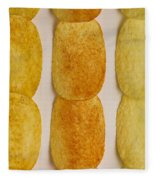 Potato Chip Rows 1 Fleece Blanket