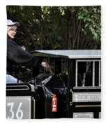 Potawatomi Zoo Miniature Train Engine South Bend Indiana Usa Fleece Blanket