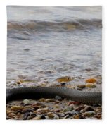 Potomac Water Snake Fleece Blanket