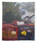 Pots On The Dock Fleece Blanket