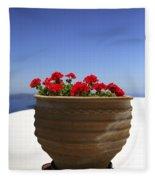 Potted Geranium Fleece Blanket