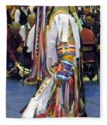 Pow Wow Dancer Fleece Blanket